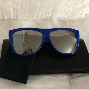 SAINT LAURENT SL1 BLUE MIRROR Flat top BRAND NEW